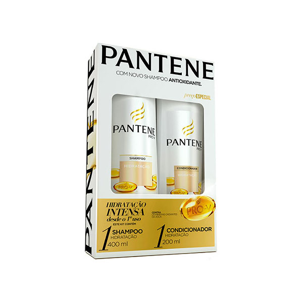 Kit Pantene Pro-V Shampoo 400 Ml + Condicionador 200 Ml Hidratação