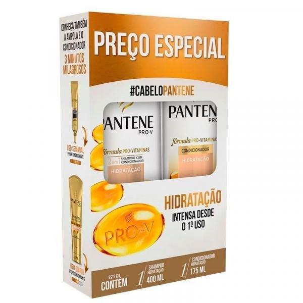 Kit Pantene Shampoo 400ml + Condicionador 175ml Hidratação