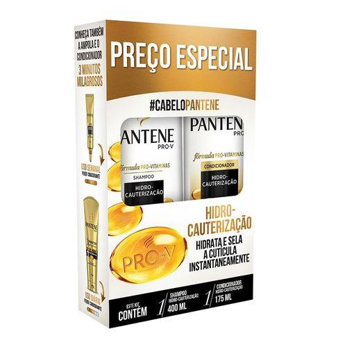 Kit Pantene Shampoo 400ml + Condicionador 175ml Hidro Cauterização