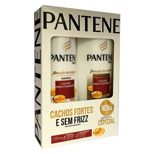 Kit Pantene Shampoo + Condicionador Cachos Hidra-Vitaminados