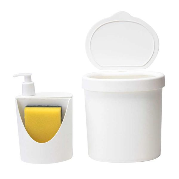 Kit para Pia 2 Peças Branco - Coza