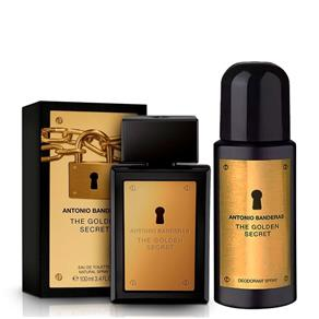 Kit Perfume e Desodorante Masculino Antonio Banderas Golden Secret EDT - 100ml
