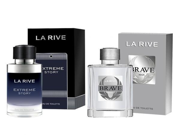 Kit Perfume Extreme Story 75ml + Brave 100ml La Rive