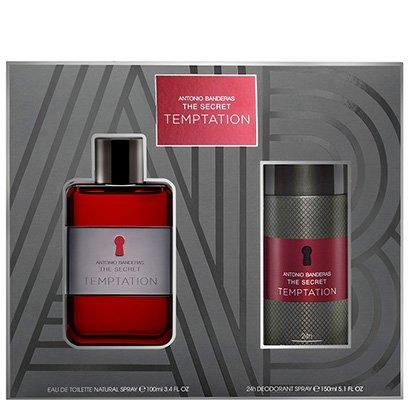 Kit Perfume The Secret Temptation Masculino Antonio Banderas EDT 100ml + Desodorante 150ml
