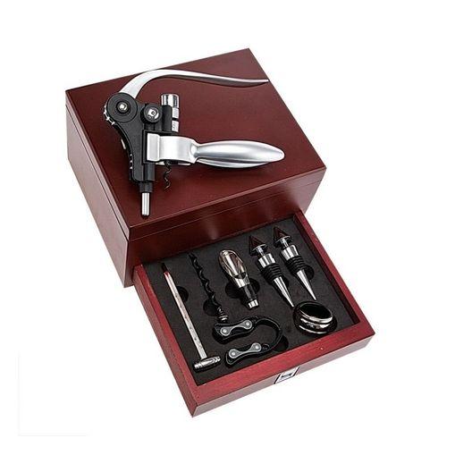 Tudo sobre 'Kit Profissional para Vinho 8 Peças Euro ZR6162010'