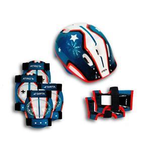 Kit Proteção Infantil Patins Skate Bicicleta Rollers - Azul