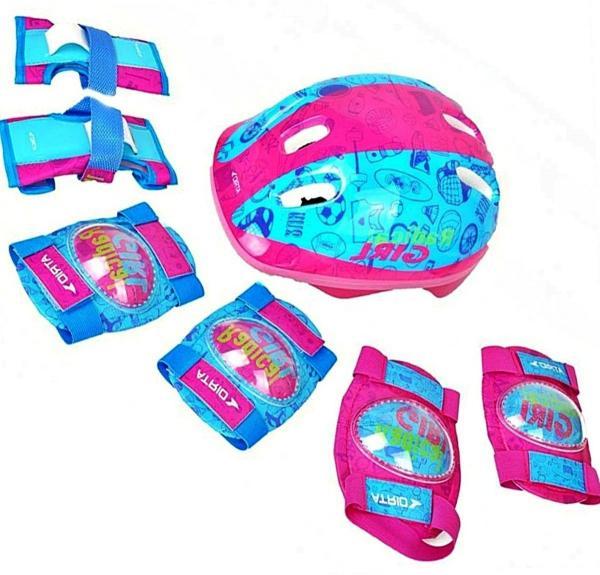 Kit Proteção Infantil Rosa Skate Bicicleta Patins - Atrio