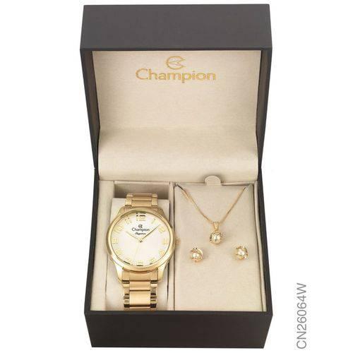 Tudo sobre 'Relógio Champion Prateado e Dourado Feminino Cn28142b'