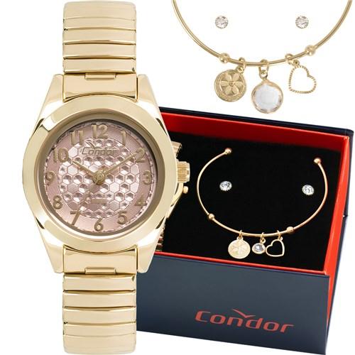 Tudo sobre 'Kit Relógio Condor Feminino com Bracelete e Brincos Co2035kwg/k4t'
