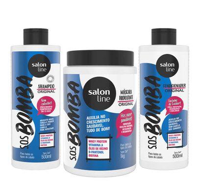 Kit S.O.S Bomba Shampoo Condicionador e Máscara - Salon Line