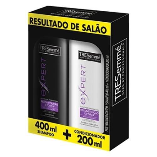 Kit Shampoo 400ml + Condicionador Reconstrução e Força 200ml - Tresemmé
