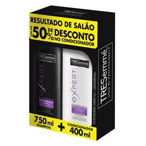 Kit Shampoo 750ml + Condicionador 400ml Tresemmé Reconstrução e Força