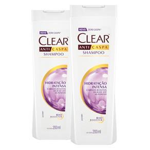 Kit 2 Shampoo Anticaspa Clear Women Hidratação Intensa 200ml