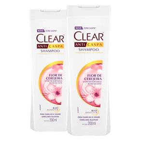 Kit 2 Shampoo Clear Woman Flor de Cerejeira 200ml
