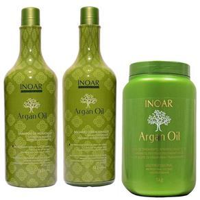 Kit Shampoo + Condicionador 1l + Mscara Argan Oil 1kg - Inoar