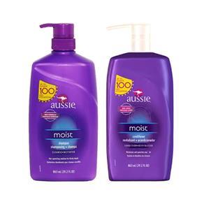 Kit Shampoo + Condicionador Aussie Moist - 865ml - 865ml