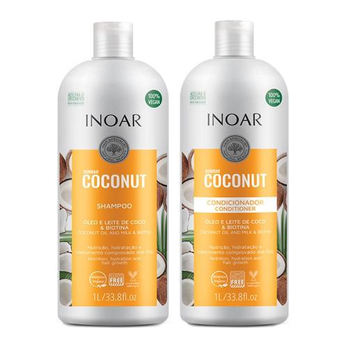 Kit Shampoo + Condicionador - Inoar Bombar Coconut