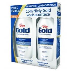Kit Shampoo + Condicionador Niely Gold Anti-Stress