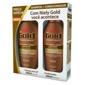 Kit Shampoo + Condicionador Niely Gold Chocolate