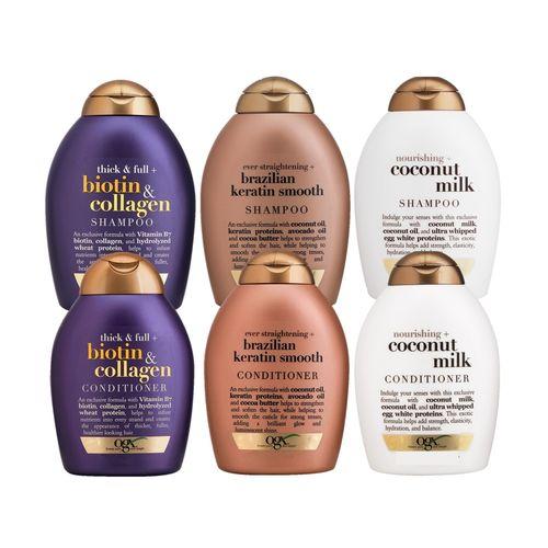Kit Shampoo e Cond. OGX Biotin/Keratin/Coconut
