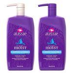 Kit Shampoo e Condicionador Aussie Moist 865ml