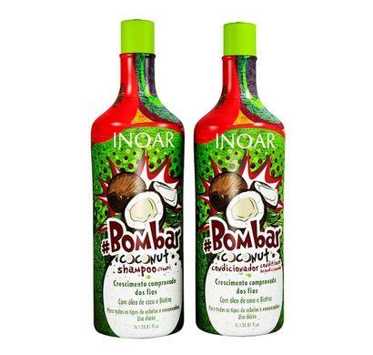 Kit Shampoo e Condicionador #Bombar Coconut 1L - Inoar