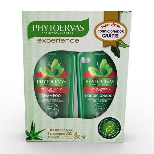 Kit Shampoo e Condicionador Fortalecimento Total Phytoervas