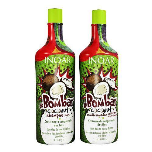 Kit Shampoo e Condicionador Nbombar Coconut 1l - Inoar