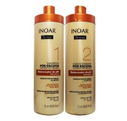 Kit Shampoo e Condicionador Pós Escova Tratados Oxyfree 1L- Inoar