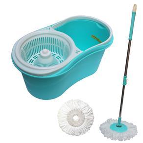 Kit Spin Mop de Limpeza com Esfregao Balde Centrifugador Mop com Rotação 360 + Refil Tssaper