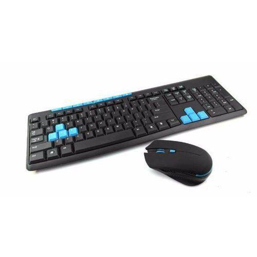 Kit Teclado e Mouse Gamer Sem Fio 1000dpi Wireless 10mt. 2.4