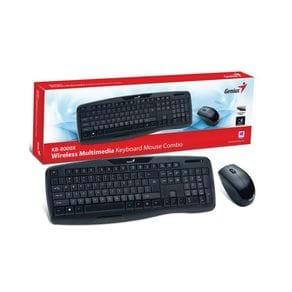 Kit Teclado e Mouse Genius Multimídia 31340005113 KB-8000X USB 2.4 GHZ Preto
