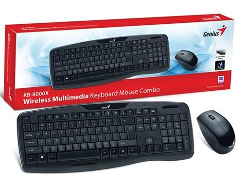 Kit Teclado e Mouse Wireless Genius 31340005113 Kb-8000X Usb 2.4 Ghz P...