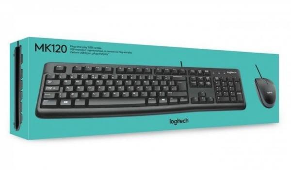 Kit Teclado+mouse Usb Mk120 Preto Logitech