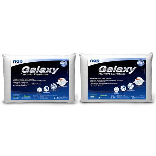 Tudo sobre 'Travesseiro Nasa Nap Galaxy Kit 2 Peças'