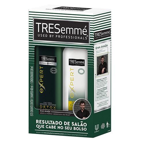 Kit Tresemmé Detox Capilar Shampoo 400ml + Condicionador 200ml