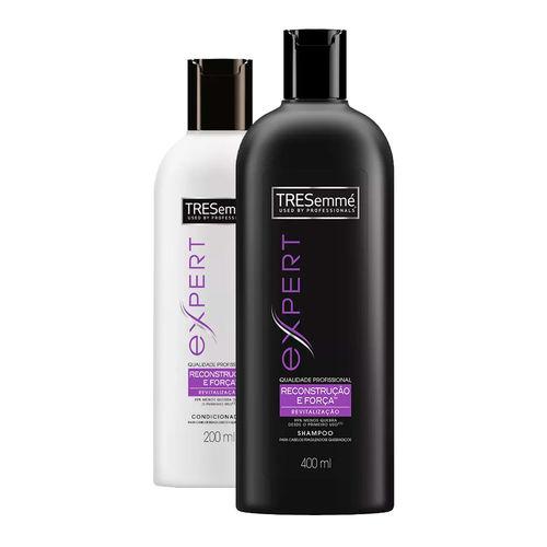 Kit Tresemmé Reconstrução e Força Shampoo 400ml + Condicionador 200ml