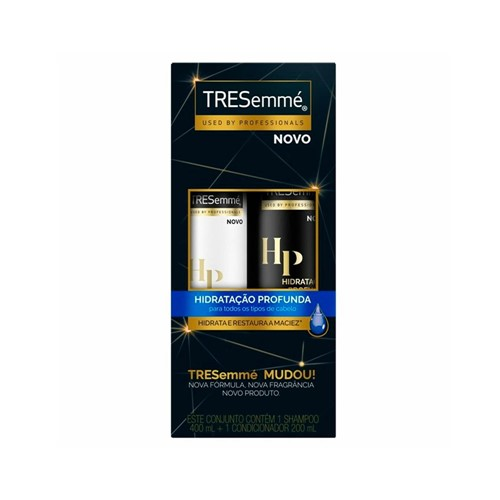 Kit Tresemme Shampoo 400ml + Condicionador 200ml Hidratação Profunda
