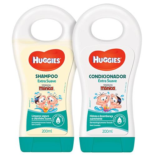 Kit Turma da Mônica Shampoo 200ml + Condicionador 200ml