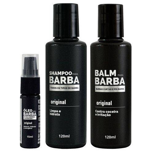 Tudo sobre 'Kit Usebarba Shampoo Óleo e Balm para Barba'