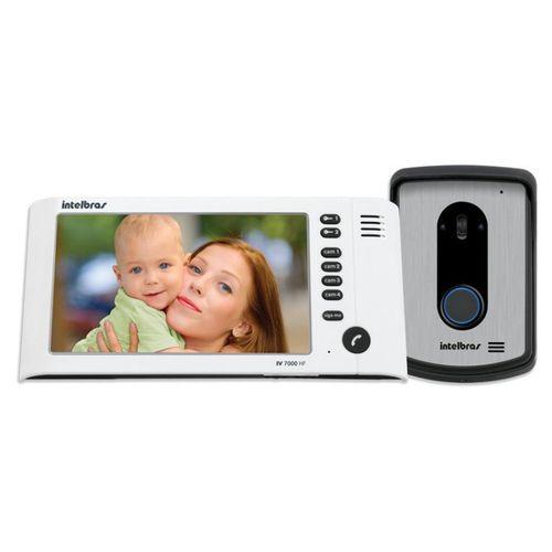 Kit Vídeo Porteiro Interfone Intelbras IV 7010 HF