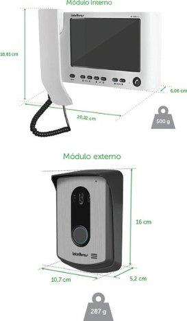 Kit Video Porteiro Monofone Iv 7010 Hs Intelbras Colorido