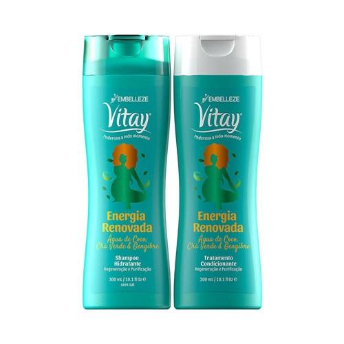 Kit Vitay Shampoo + Condicionador Energia Renovado 300ml