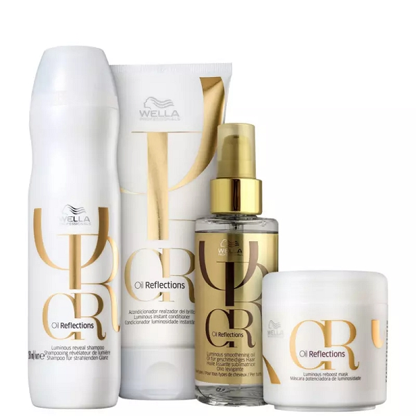 Kit Wella Professionals Oil Reflections Luminous Completo ( 4 Produtos )