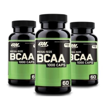 Kit 3x BCAA 1000 - 180 Cáps Optimum Nutrition