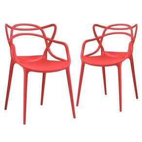 KIT - 2 X Cadeiras Allegra - VERMELHO