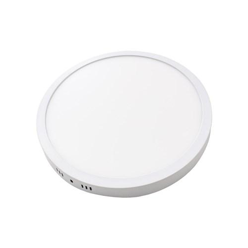 Painel Plafon Led 25W Luminária Sobrepor Redondo Branco Quente St546