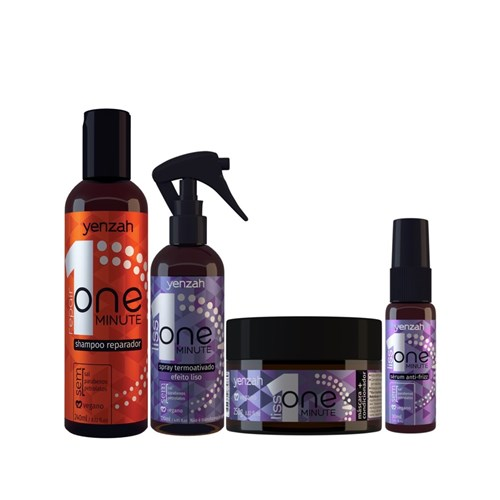 Kit Yenzah One Minute Liss + Shampoo One Minute