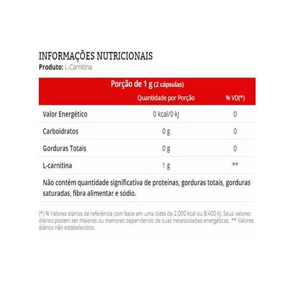 L-Carnitina (60 Cápsulas) Vitafor