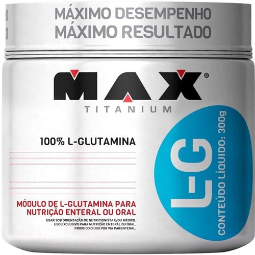 L-G Glutamina 300gr - Max Titanium